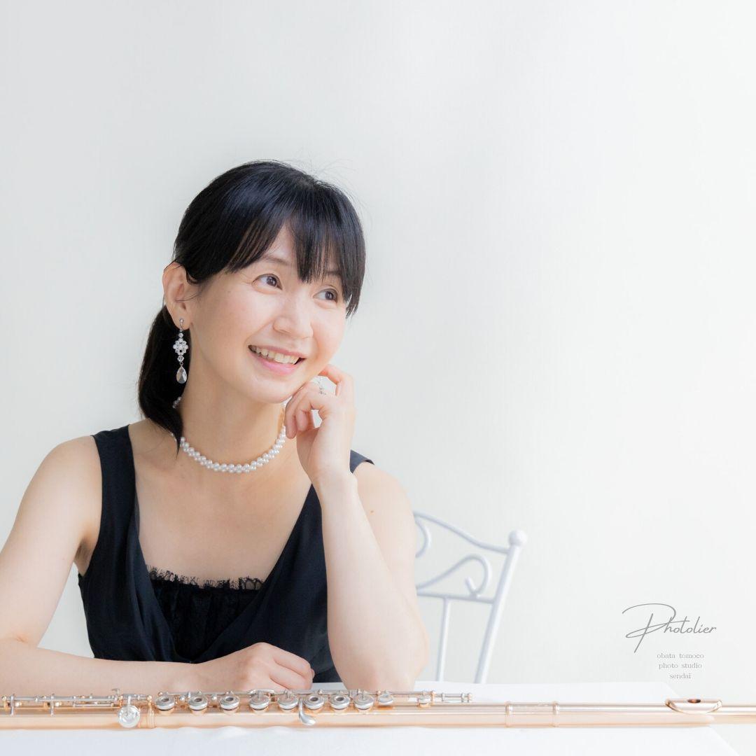 池田緋沙子 様(宮城県仙台市)|音楽家・フルート奏者・レッスン|プロフィール写真撮影