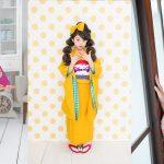 仙台でアンティーク着物の七五三撮影