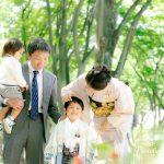 仙台の定禅寺通りで家族写真