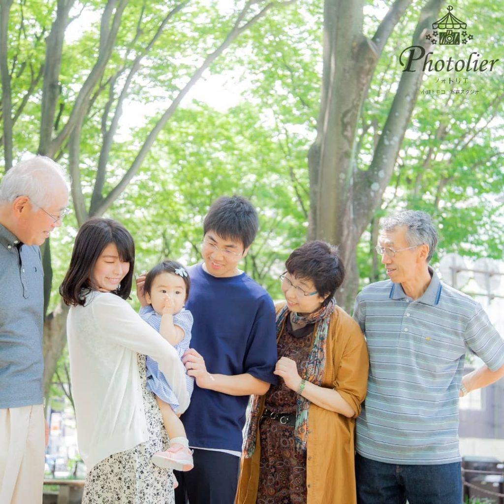 仙台メディアテーク定禅寺通りでの家族写真