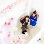 仙台のスタジオで入学記念の写真撮影